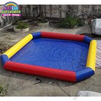 Популярное Оборудование для воды надувные игрушки для воды плавающий бассейн, надувной морской бассейн 8x8 m для продажи