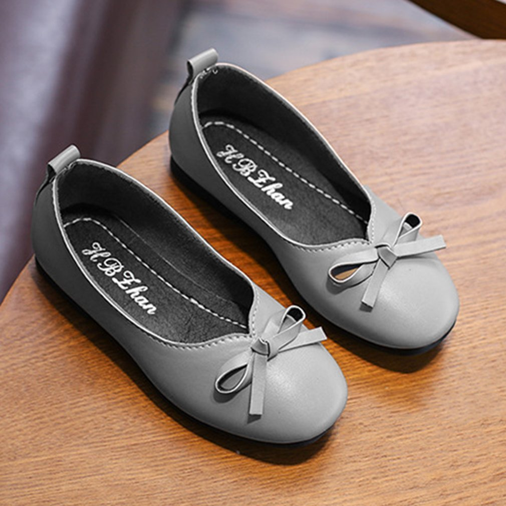 Baby Girls Shoes Fashion Casual Nude Bowknot Flat Heels With Low Cut Design Soft -7359