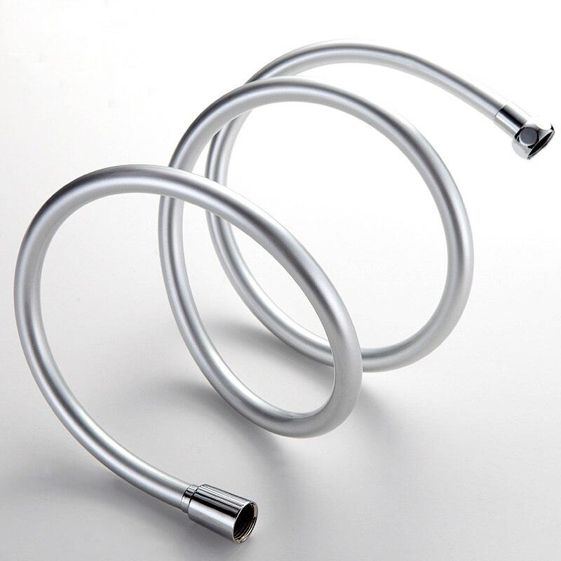 Venta de La Promoción de PVC Baño Ducha de Bloqueo Doble Tubo Flexible 1.5 M Set de Baño Accesorios de Plata Mangueras de Fontanería Tubería de Agua
