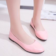 Women New Brand Joker Ballet Pink Shoes Spring Single Cone Doug Office Big Yards  Womens Light Ladies Sandals