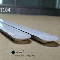10 40pcs/lot 20 80m led aluminium profile for 11mm PCB board ,embedded led bar light housing, led built in tape light channel