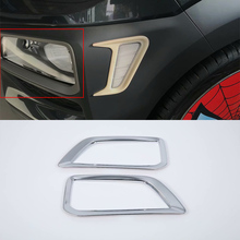 ABS Plastic Car body kits front foglight cover For HYUNDAI ENCINO/KONA car accessories