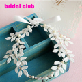 New Arrival Handmade Tiara Noiva White Leaf Wedding Hairband Bridal Party Festival Hairwear Hair Accessory