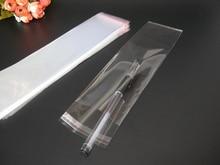 300 unids Claro Resellable BOPP/PVC/Bolsas de Celofán 8×27 cm Bolsa de cosméticos envases De Plástico Transparente de Opp bolsas Sello Auto-Adhesivo