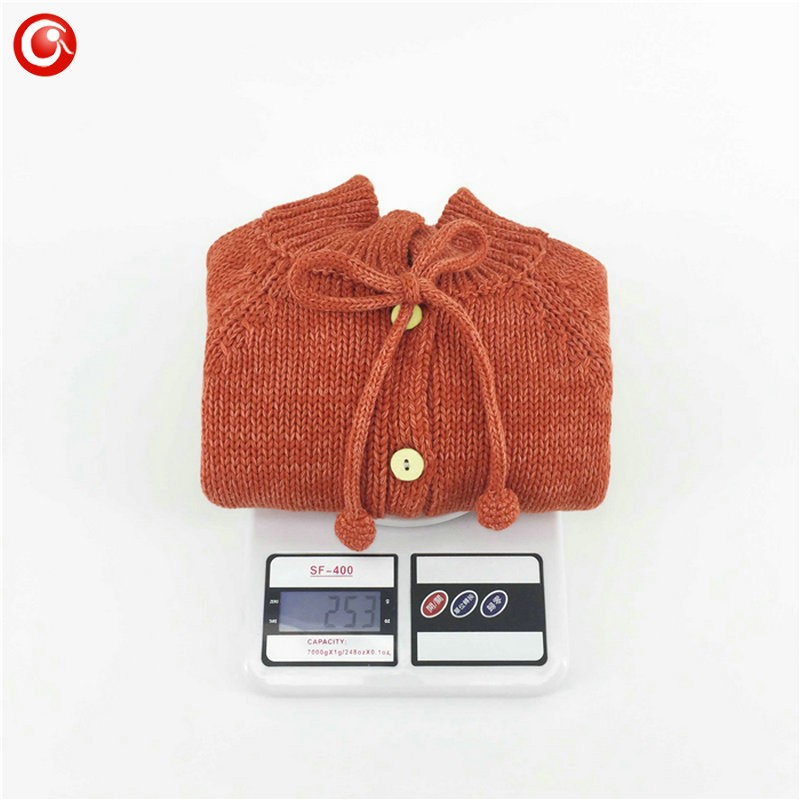Children Girls Cardigan Orange Baby Boys Cotton Sweater Button Kids Warm Knitted Wear Clothes Crochet Coat Clothing 1-4Y (2)