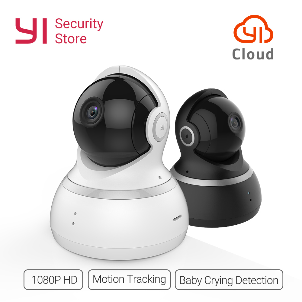 YI Dome Camera 1080P Baby Monitor Night Vision Wireless IP WIFI Home Cam Security Surveillance System 360 Degree Coverage Global