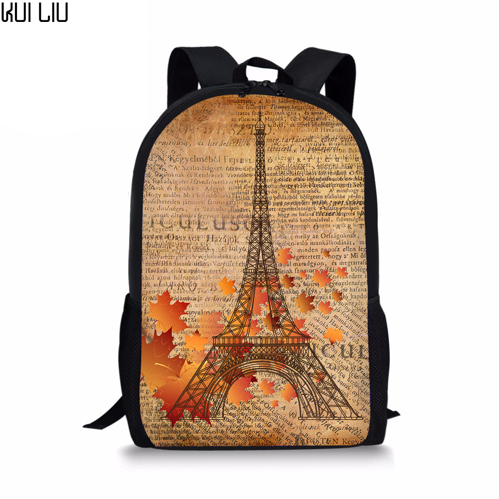 Paris /& Eiffel Tower Student Backpack Personalized