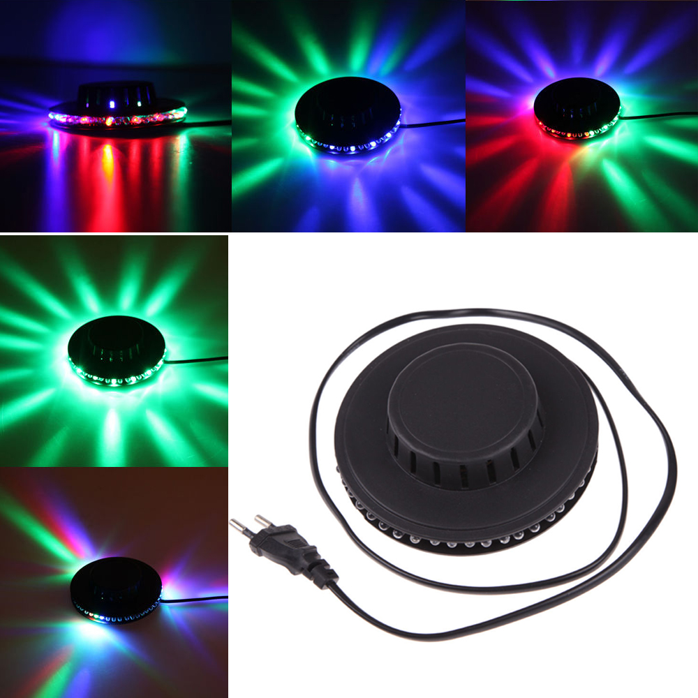 48-LED Voice-activated UFO Sunflower Rotating RGB Stage Light Disco Bar Party