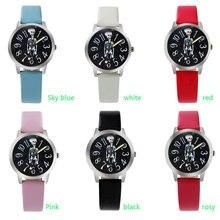 ot03 New Children Fashion Casual Watch Girl Boy Color Pattern Style Quartz Wristwatch Popular Student Elegant Clock