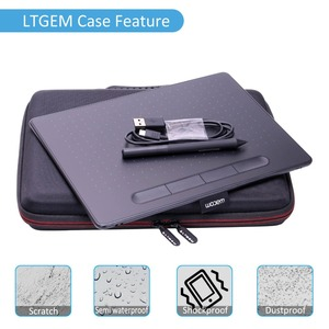 """Image 4 - LTGEM EVA Hard Case Fit for Wacom Intuos Wireless Graphic Tablet, Size 10.4""""x 7.8"""" (CTL6100)"""