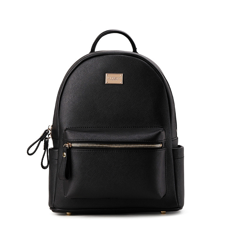 Luxury Backpack Genuine Leather Mini Backpacks Designer Women High Quality School Bags for Teenage Girls Black