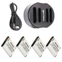 4-Pack Li-50B LI50B 50B Battery&USB Dual Charger  for OLYMPUS SP 810 800UZ u6010 u6020 u9010 SZ14 SZ16 D755 u1010 SZ30 SZ20 XZ-1