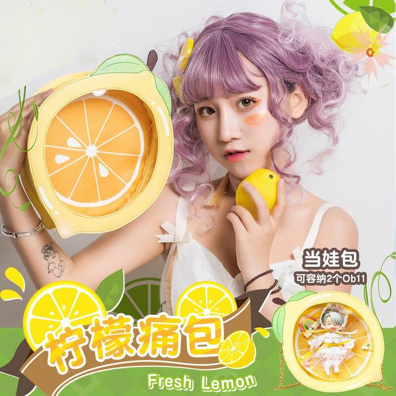 Oreilles de lapin stéréo Super mignon japonais pour femmes Lolita Bow bricolage sac à bandoulière rond Transparent