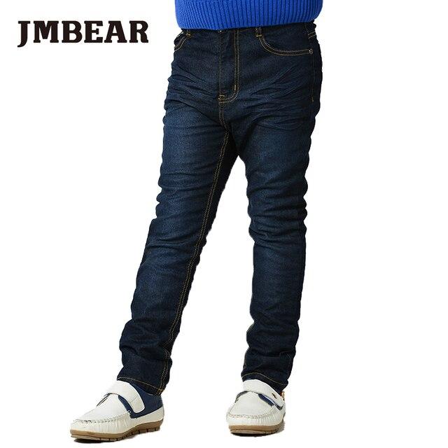 JMBEAR 6-14Years Girl/Boys Jeans kids Casual Denim Pants school style spring/autumn fashion children clothing 2016 new