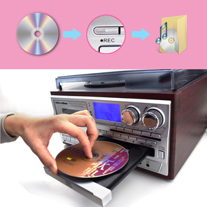 Image 5 - LoopTone 3 Geschwindigkeit Bluetooth Plattenspieler Vinyl LP Plattenspieler Vintage Gramophone Phono CD & Kassette Player FM/AM Radio USB Recorder