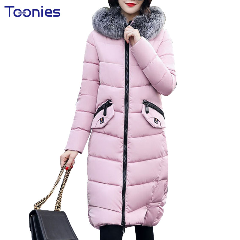 2017 Winter Female Long Warm Padded Coat Women Faux Fur Hooded Parkas Jacket Thcken Mujer Cotton Outwear Cascos Femme Outcoat women s thick warm long winter jacket parkas mujer hooded cotton padded coat female manteau femme jassen vrouwen winter mz1954