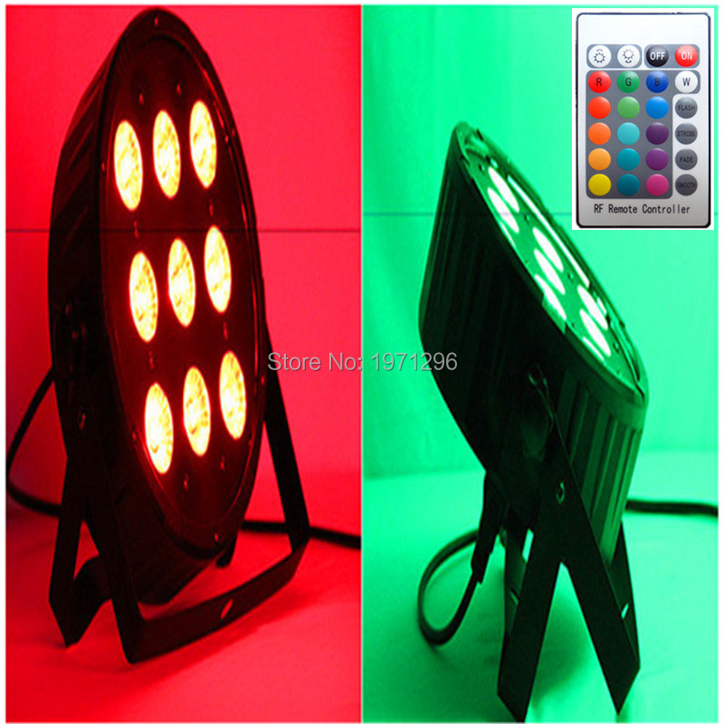 2pcs/lot Free&Fast shipping Wireless remote control LED Par 9x12W RGBW 4IN1 LED Wash Light Stage Uplighting free shipping 6pcs lot concert stage 6 in 1 zoom wash led par can 18x18w led par ip25 rgbw led wash with zoom