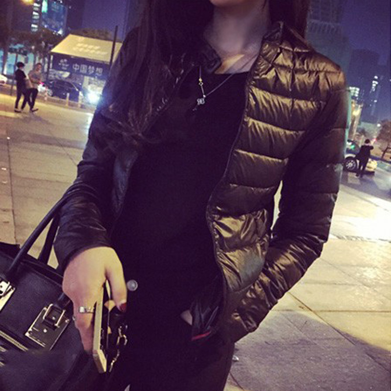 Female Down Coat 2021 Spring Winter Women Europe and America Thin Short Cultivating Outwear Cotton Padded Warm Jacket Outwear