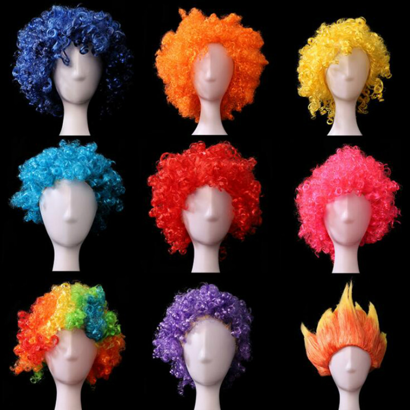 European and American color wigs Halloween cosplay props role-playing performance ball party supplies headwear