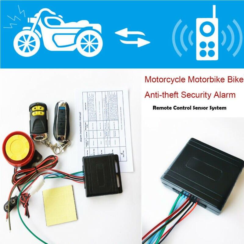 Motorcycle Alarm System Anti Theft Security Remote Control Engine Start Motorcycle Burglar Alarm