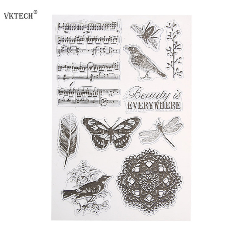 Clear Stamp for Scrapbooking Paper Cards Making Transparent Silicone Rubber Stamps Seals for Card Making DIY Photo Album Decor fx cnc extending folding clutch brake lever 8 colors aluminum for bmw r nine t 2014 2016 r1200r r1200rs 2015 2016 r1200rt