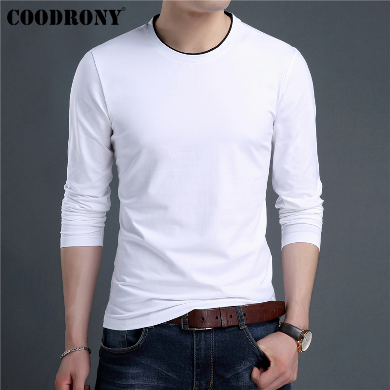 COODRONY Brand T Shirt Men Streetwear Fashion O-Neck Top Tshirt Men Clothes 2019 Autumn T-Shirt Men Cotton Tee Shirt Homme 95024