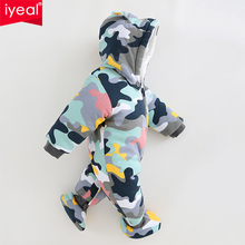 NEW Baby Rompers Winter Thick Warm Baby boy Clothing Camo Long Sleeve Hooded Jumpsuit Kids Newborn Outwear for 0-12M