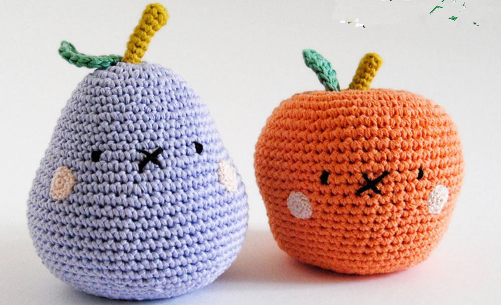 Crochet Toys  Amigurumi  Rattles  Fruit  Model Number  SBY0078