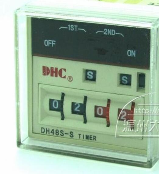 DHC Wenzhou Dahua DH48S-S time relay infinite loop or a single band reset wenzhou dahua dh48l cumulative timer time relay contact or power signal
