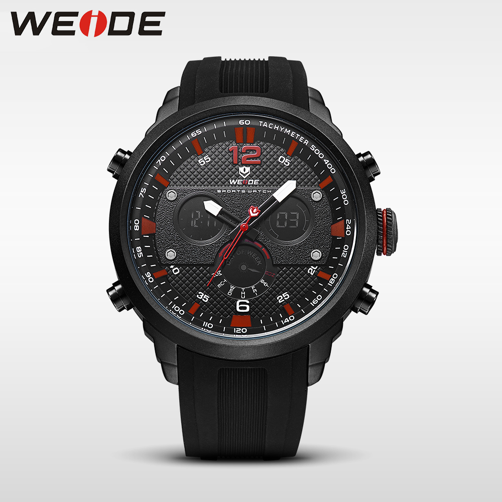 WEIDE men watch sport digital luxury brand quartz watches water resistant relojes hombre alarm clock relogio masculino esportivo weide casual genuin new watch men quartz digital date alarm waterproof fashion clock relogio masculino relojes double display