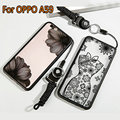 Fundas For OPPO A59 case Sex lace Cute luxury clear women phone cases For OPPO A59M F1S case Soft TPU cover+ lanyard