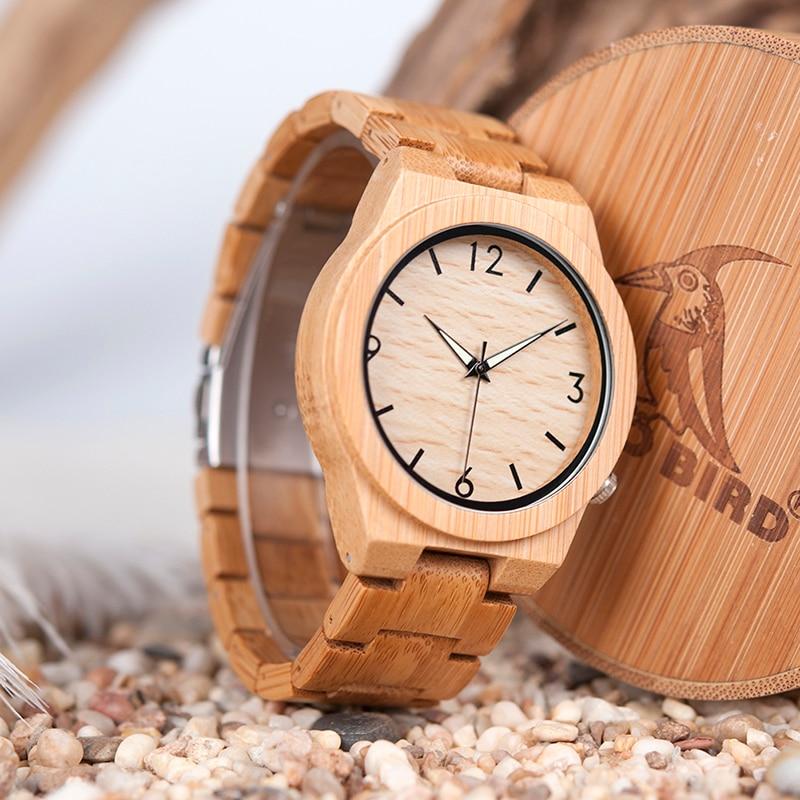 relógio de madeira relogio masculino aceitar transporte da gota d27