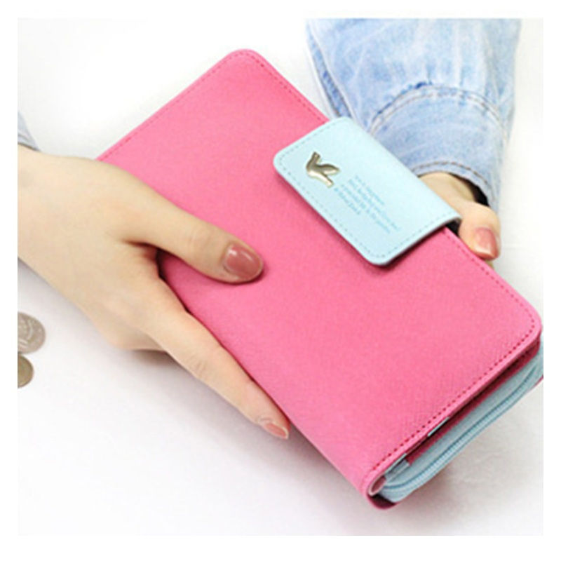 2019 Wallet Women Carteira Feminina Long Wallets Lady PU Leather Zipper Purse Card Holder Clutch Money passport Bag big capacity