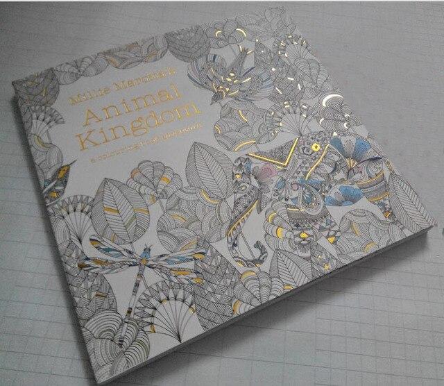 Adultos libros para colorear inglés : reino animal, Engish original ...