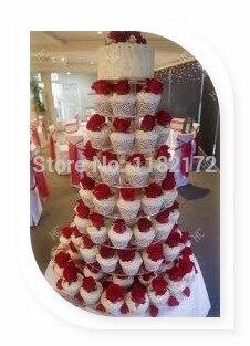 8 Tier Round Acrylic Cupcake Stand, 8 Tier Round Perspex Cupcake ...