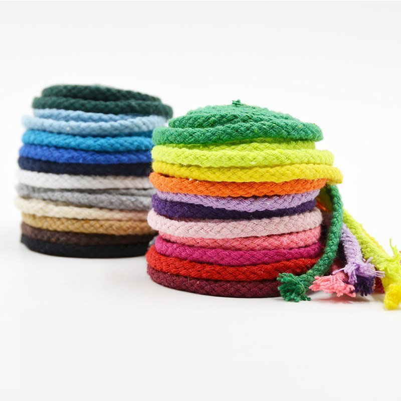 5mm Cotton Rope Craft Decorative Twisted Cord Rope for Handmade Decoration DIY Lanyard Ficelles Couleurs Thread Cord 5yards(China)