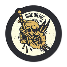 Ride Or Dead Skull Sticker Tattoo Art Sailor Vinyl Accessories Decorative Decal Car Accessories