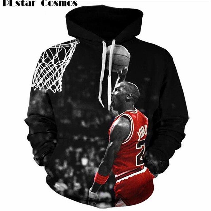 fd8048b61e00 PLstar Cosmos Brand clothing 2017 New 3D Hoodies Jordan Dunk lore print  Harajuku Men Pullover Hoodies