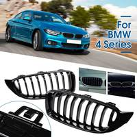 Gloss Black Front Grilles Strip For BMW 4 Series F32 F33 F36 F82 MODELS COUPE