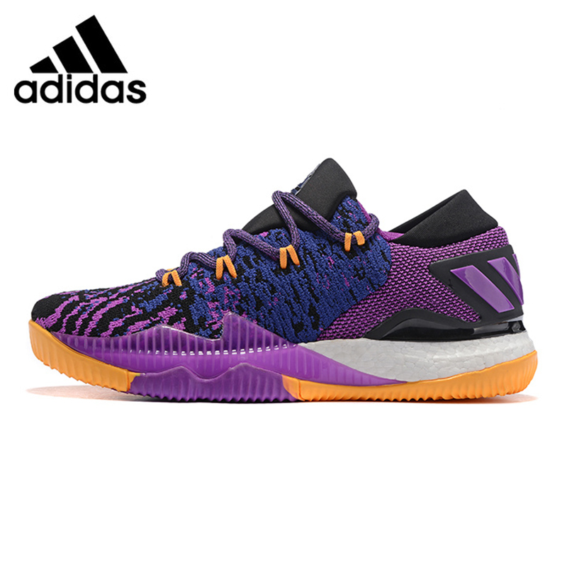 Adidas Crazylight Boost Low Men Basketball Shoes,Purple,Non-slip Breathable Wear-resistant Shock Absorption BB8175 EUR Size M