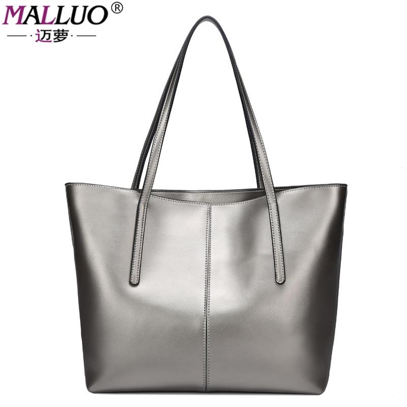 MALLUO Women Bags Genuine Leather New Arrive Shoulder Bag Designer Cowhide handbags Crossbody Bag Handbags Women Famous BrandS