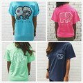 2017 Spring Ivory Ella T-shirt Womens Clothing Tee Print Animal Elephant T Shirt Loose Long Sleeve