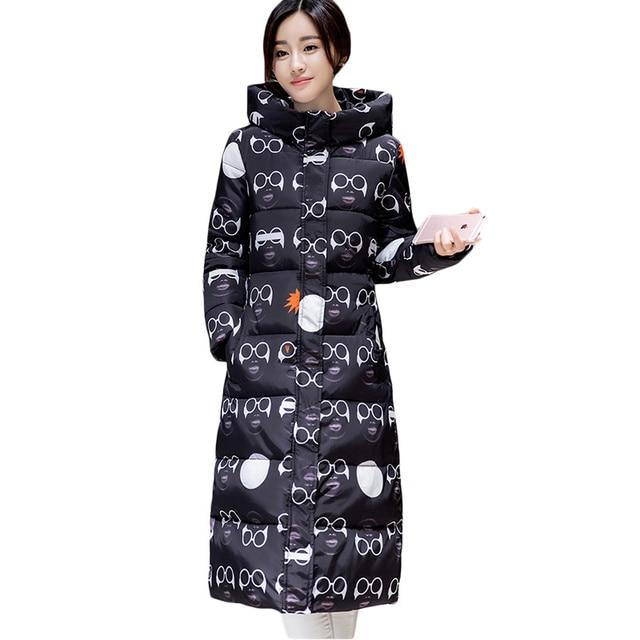 Winter Jacket Women 2017 Camouflage Parka Warm Female Jacket Hooded Cotton Coat Parkas Jaqueta Feminina Inverno Maxi Coats C2381