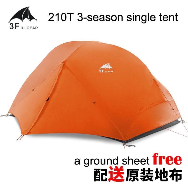 3F Piaoyun1 Unique Double-couche à Coutures scellées 210 T ultra-léger 3-saison PU Revêtement tente de camping avec Livraison tapis de sol
