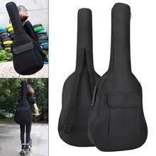 цены на 36 Inch Guitar Bag Case Gig Bag Double Straps Oxford Fabric Pad 5mm Cotton Thickening Soft Cover Waterproof Backpack  в интернет-магазинах