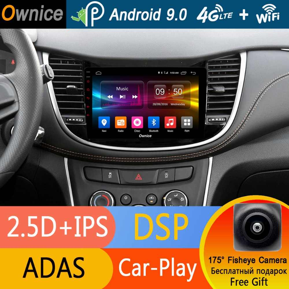 "9 ""IPS Android 9.0 Octa 8 Core Car Dvd-speler Voor Chevrolet Trax 2017 2018 4G RAM 32G GPS Navi ADAS Radio Stereo DSP CarPlay"