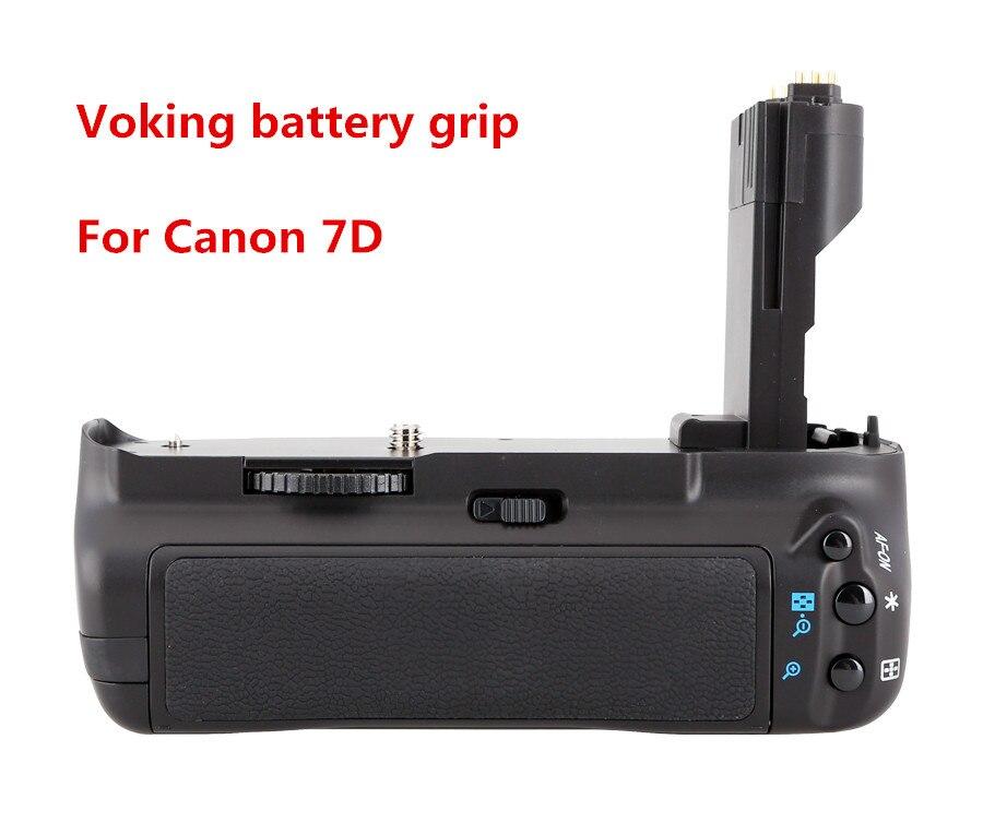 Voking haute qualité batterie support de prise en main Pack VK-E7 pour Canon 7D