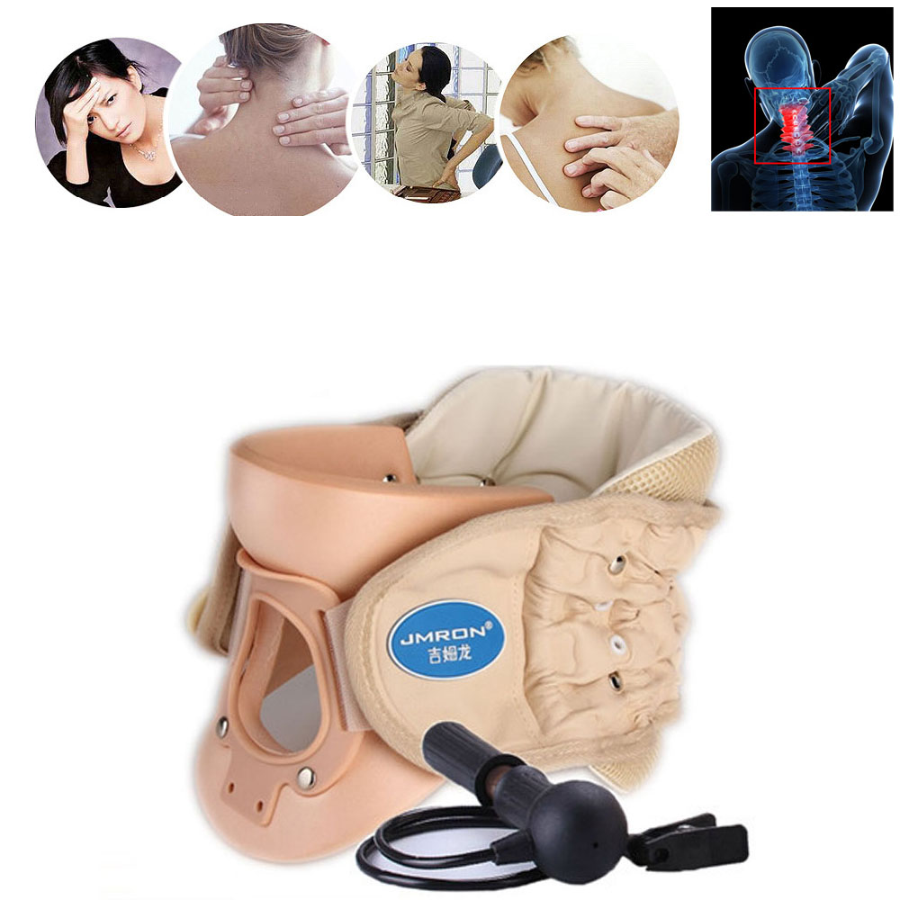Neck Ease Care Cervical Vertebra Air Traction Cervical CollarNeck Brace Neck Pain Release Therapy Device 2014 top selling multifunction messenger bags men crossbody bag small vintage famous brand men briefcase smb004