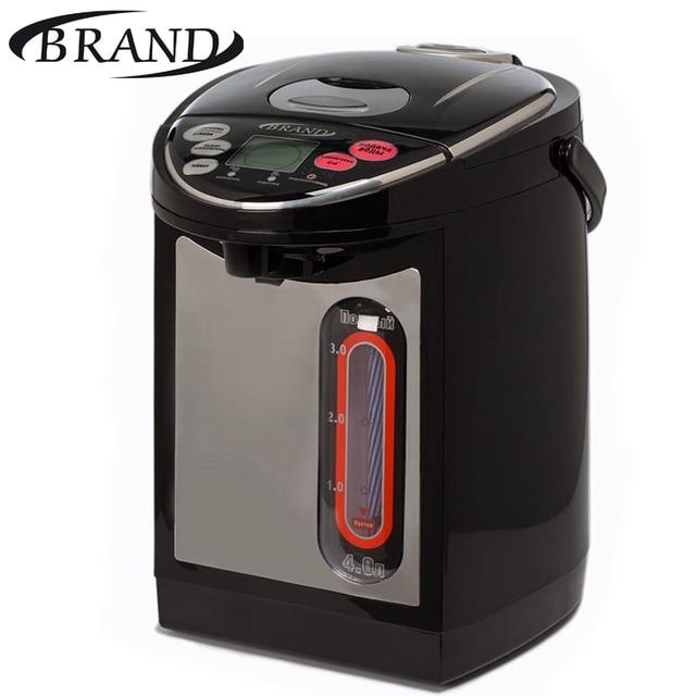 Термопот BRAND4404 цифровой. Объем 4л, большой ЖК-дисплей, контроль температуры (45С,65С,85С,98С), отсрочка таймер 3-12 часов, функция защиты от детей, вращающийся корпус