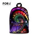 Forudesigns moda de fantasía en 3d imagen de impresión mochila para estudiantes de secundaria mochilas los niños niñas mochilas turismo